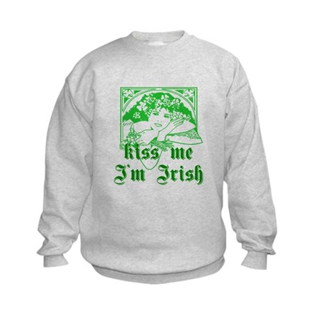 Kiss Me Irish Girl Kids Sweatshirt