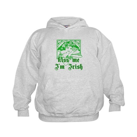 Kiss Me Irish Girl Kids Hoodie