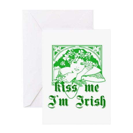 Kiss Me Irish Girl Greeting Card