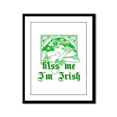 Kiss Me Irish Girl Framed Panel Print