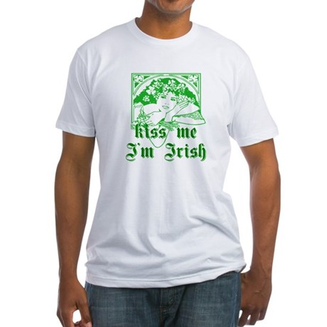 Kiss Me Irish Girl Fitted T-Shirt
