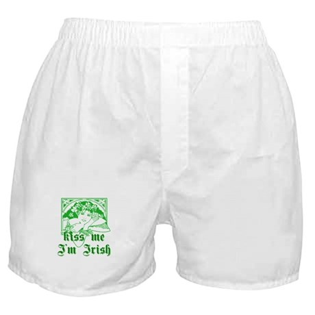 Kiss Me Irish Girl Boxer Shorts