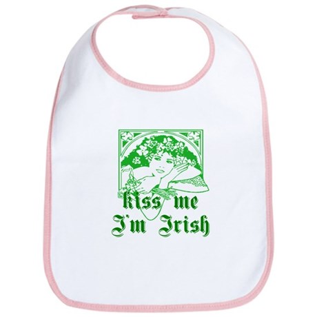 Kiss Me Irish Girl Bib