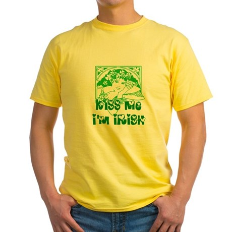 Kiss Me Irish Girl Yellow T-Shirt