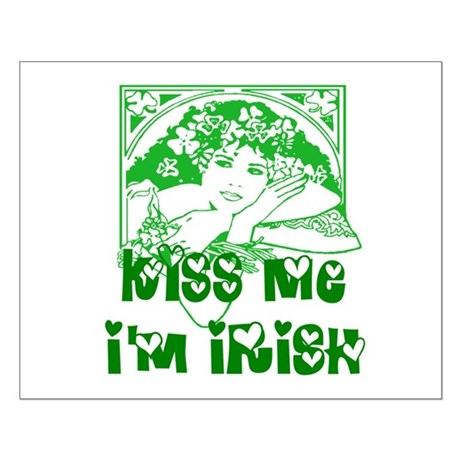 Kiss Me Irish Girl Small Poster