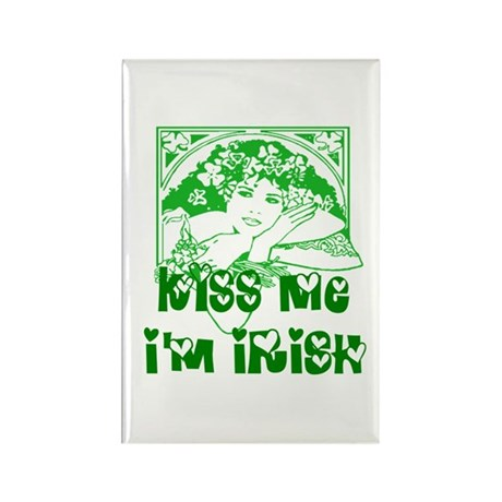 Kiss Me Irish Girl Rectangle Magnet (10 pack)