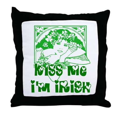 Kiss Me Irish Girl Throw Pillow