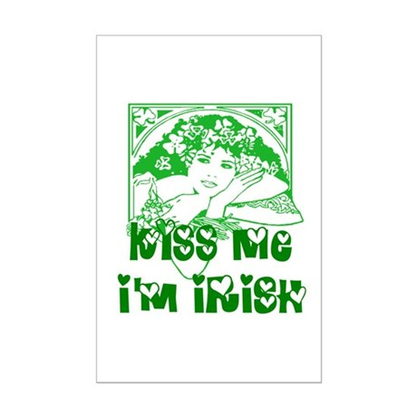 Kiss Me Irish Girl Mini Poster Print
