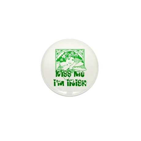 Kiss Me Irish Girl Mini Button (100 pack)