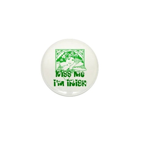 Kiss Me Irish Girl Mini Button