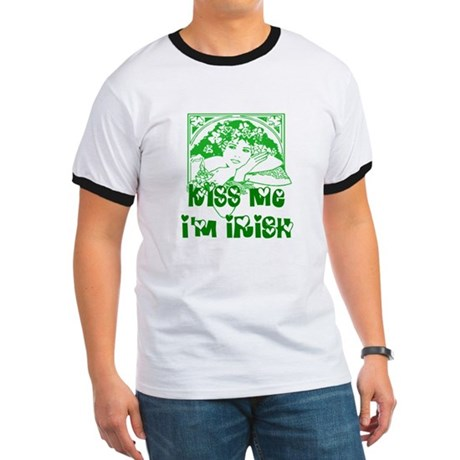 Kiss Me Irish Girl Ringer T
