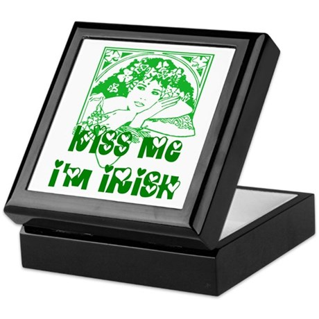 Kiss Me Irish Girl Keepsake Box