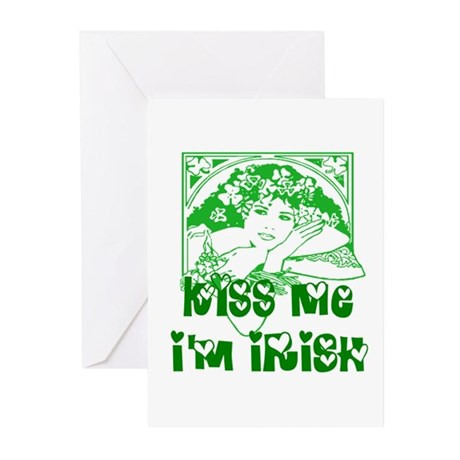 Kiss Me Irish Girl Greeting Cards (Pk of 20)