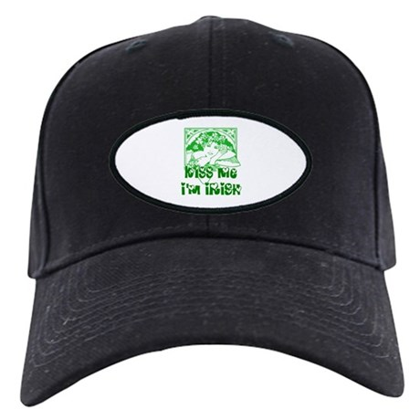 Kiss Me Irish Girl Black Cap
