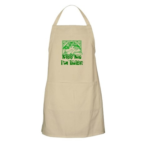 Kiss Me Irish Girl BBQ Apron