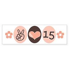 Peace Love Quinceanera Bumper Bumper Sticker