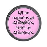 What happens at Abuelita's Wall Clock