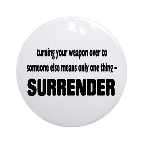 Anti-Gun Control Ornament (Round)
