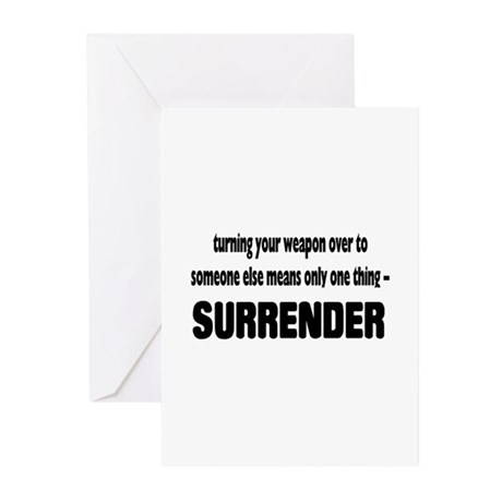Anti-Gun Control Greeting Cards (Pk of 10)