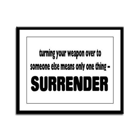 Anti-Gun Control Framed Panel Print