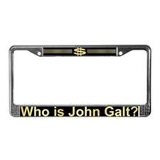 Who is John Galt? Atlas Shrugged License Plate Fra