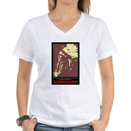 Anti-Gun Control Women's V-Neck T-Shirt