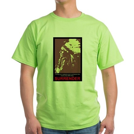Anti-Gun Control Green T-Shirt