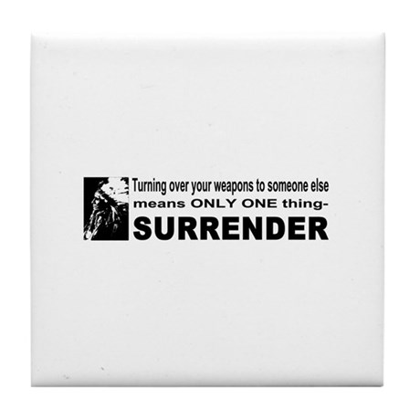 Anti Gun Control Tile Coaster