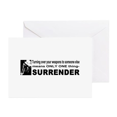 Anti Gun Control Greeting Cards (Pk of 10)