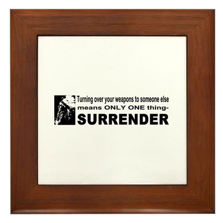 Anti Gun Control Framed Tile