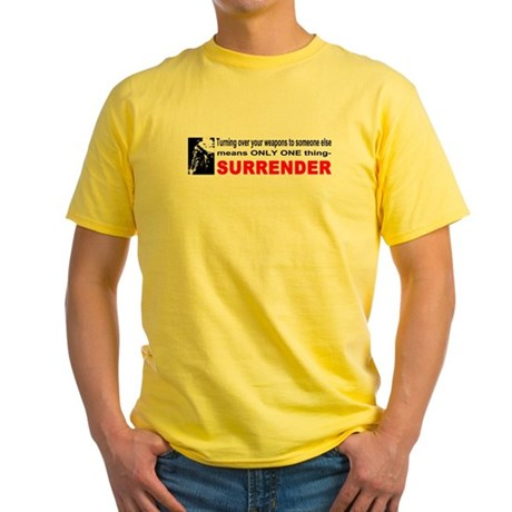 Anti Gun Control Yellow T-Shirt