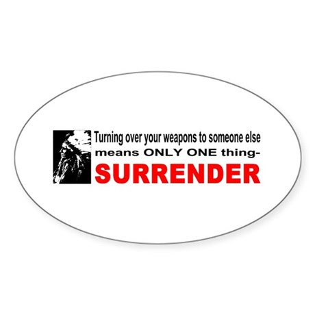 Anti Gun Control Oval Sticker