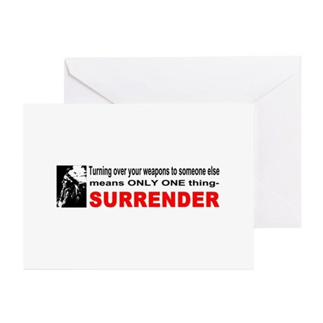 Anti Gun Control Greeting Cards (Pk of 20)