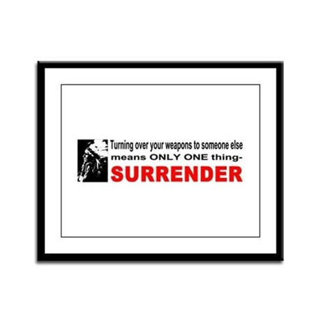 Anti Gun Control Framed Panel Print