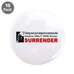Anti Gun Control 3.5&quot; Button (10 pack)