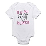 B is for Boxer (Girl) Onesie