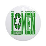 I Recycle Men Keepsake (Round)