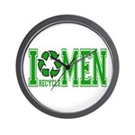 I Recycle Men Wall Clock