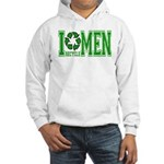 I Recycle Men Hooded Sweatshirt