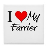 I Heart My Farrier Tile Coaster