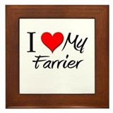 I Heart My Farrier Framed Tile