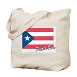 Flag of Puerto rico Tote Bag