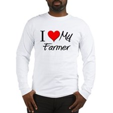I Heart My Farmer Long Sleeve T-Shirt