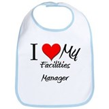 I Heart My Facilities Manager Bib