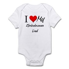 I Love My Zimbabwean Dad Infant Bodysuit
