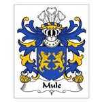 Mule Family Crest Small Poster