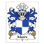 Moore Family Crest Small Poster
