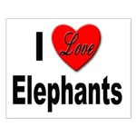 I Love Elephants Small Poster