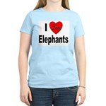 I Love Elephants Women's Pink T-Shirt