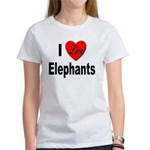 I Love Elephants (Front) Women's T-Shirt